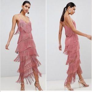 NWT ASOS fringe fray dress
